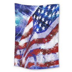 Flag Usa United States Of America Images Independence Day Large Tapestry