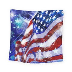 Flag Usa United States Of America Images Independence Day Square Tapestry (Small)