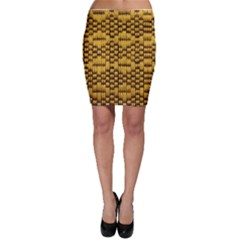 Golden Pattern Fabric Bodycon Skirt