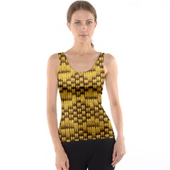 Golden Pattern Fabric Tank Top
