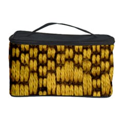 Golden Pattern Fabric Cosmetic Storage Case