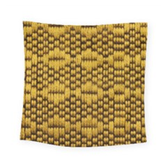 Golden Pattern Fabric Square Tapestry (Small)