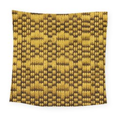 Golden Pattern Fabric Square Tapestry (Large)