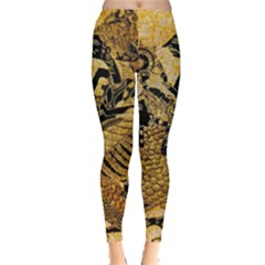 Golden Colorful The Beautiful Of Art Indonesian Batik Pattern Leggings