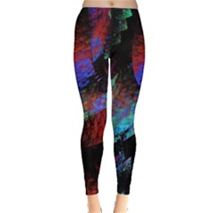 Native Blanket Abstract Digital Art Leggings