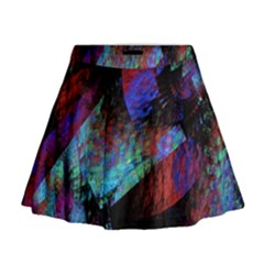 Native Blanket Abstract Digital Art Mini Flare Skirt