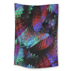 Native Blanket Abstract Digital Art Large Tapestry