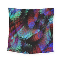 Native Blanket Abstract Digital Art Square Tapestry (small)
