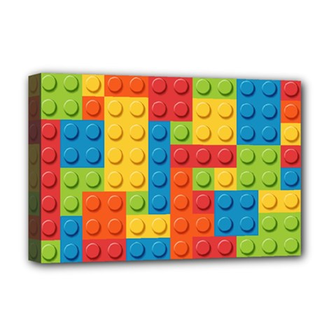 Lego Bricks Pattern Deluxe Canvas 18  x 12