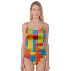Lego Bricks Pattern Camisole Leotard