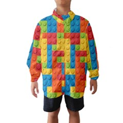 Lego Bricks Pattern Wind Breaker (Kids)