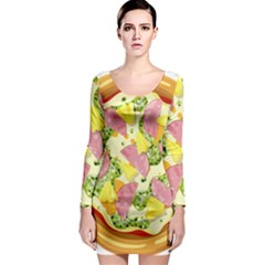 Pizza Clip Art Long Sleeve Bodycon Dress