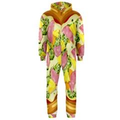 Pizza Clip Art Hooded Jumpsuit (men)