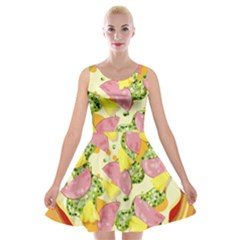 Pizza Clip Art Velvet Skater Dress