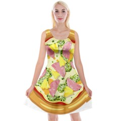 Pizza Clip Art Reversible Velvet Sleeveless Dress