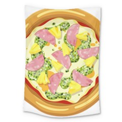 Pizza Clip Art Large Tapestry