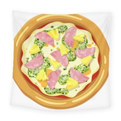 Pizza Clip Art Square Tapestry (large)