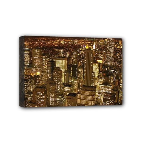 New York City At Night Future City Night Mini Canvas 6  X 4