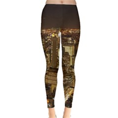 New York City At Night Future City Night Leggings