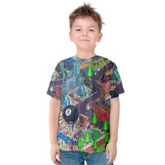 Pixel Art City Kids  Cotton Tee