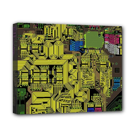 Technology Circuit Board Canvas 10  x 8