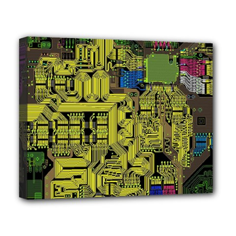 Technology Circuit Board Deluxe Canvas 20  x 16