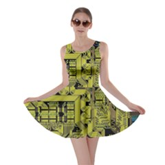 Technology Circuit Board Skater Dress