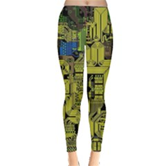 Technology Circuit Board Leggings
