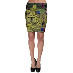 Technology Circuit Board Bodycon Skirt