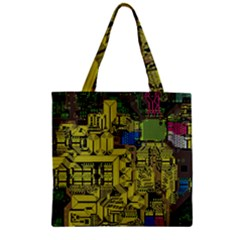 Technology Circuit Board Zipper Grocery Tote Bag