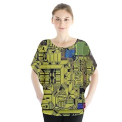 Technology Circuit Board Blouse