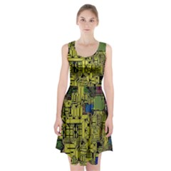 Technology Circuit Board Racerback Midi Dress