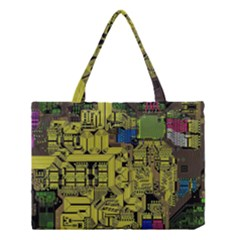 Technology Circuit Board Medium Tote Bag