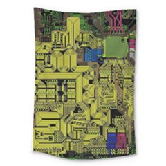 Technology Circuit Board Large Tapestry