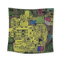 Technology Circuit Board Square Tapestry (Small)