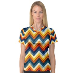 The Amazing Pattern Library Women s V-Neck Sport Mesh Tee
