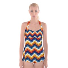The Amazing Pattern Library Boyleg Halter Swimsuit