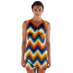 The Amazing Pattern Library Wrap Front Bodycon Dress