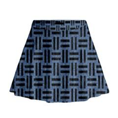 WOV1 BK-MRBL BL-LTHR (R) Mini Flare Skirt