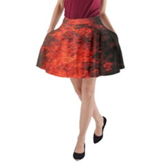 Reflections at Night A-Line Pocket Skirt