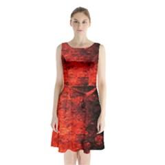 Reflections At Night Sleeveless Chiffon Waist Tie Dress