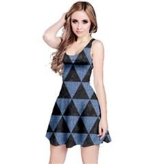 TRI3 BK-MRBL BL-LTHR Reversible Sleeveless Dress