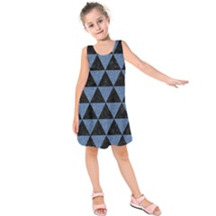 TRI3 BK-MRBL BL-LTHR Kids  Sleeveless Dress