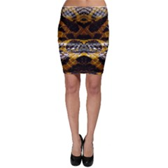 Textures Snake Skin Patterns Bodycon Skirt