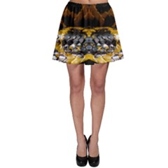 Textures Snake Skin Patterns Skater Skirt