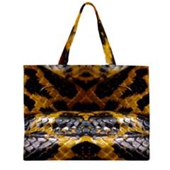 Textures Snake Skin Patterns Large Tote Bag