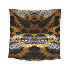 Textures Snake Skin Patterns Square Tapestry (small)