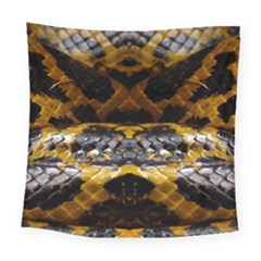 Textures Snake Skin Patterns Square Tapestry (large)