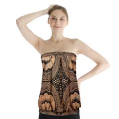 The Art Of Batik Printing Strapless Top