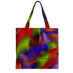 Texture Pattern Programming Processing Zipper Grocery Tote Bag